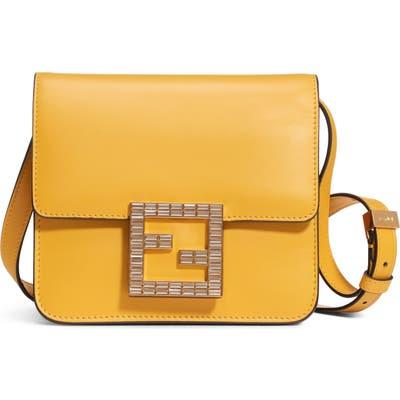 Fendi Fab Leather Crossbody Bag - Yellow