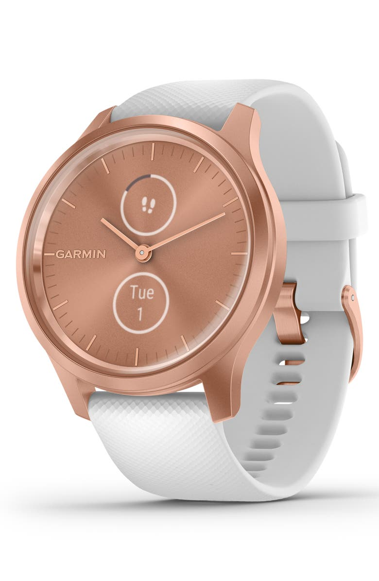 GARMIN Vívomove<sup>®</sup> Style Hybrid Smart Watch, 40mm, Main, color, ROSE GOLD/ WHITE