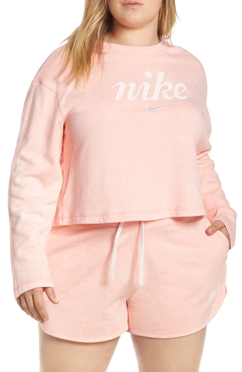 17ea893e0fa7 Sportswear Wish Graphic Sweatshirt, Main, color, BLEACHED CORAL/ SUMMIT  WHITE