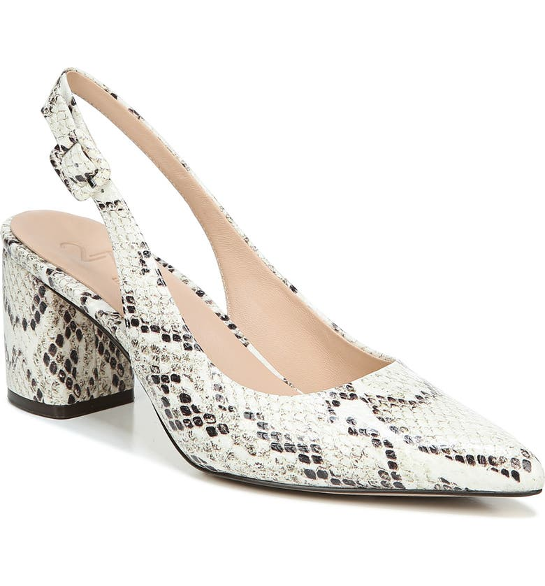 27 EDIT Meera Slingback Pump, Main, color, SNAKE PRINT LEATHER