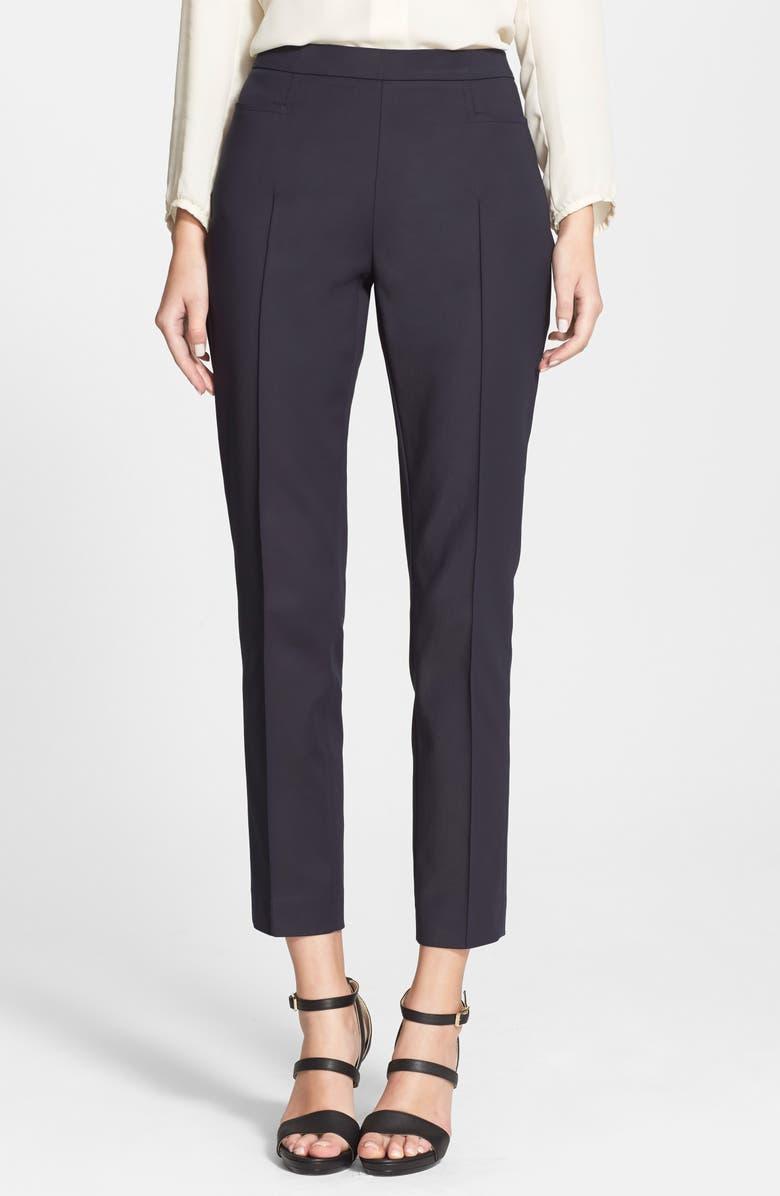 AKRIS PUNTO 'Franca' Techno Cotton Pants, Main, color, DEEP NAVY