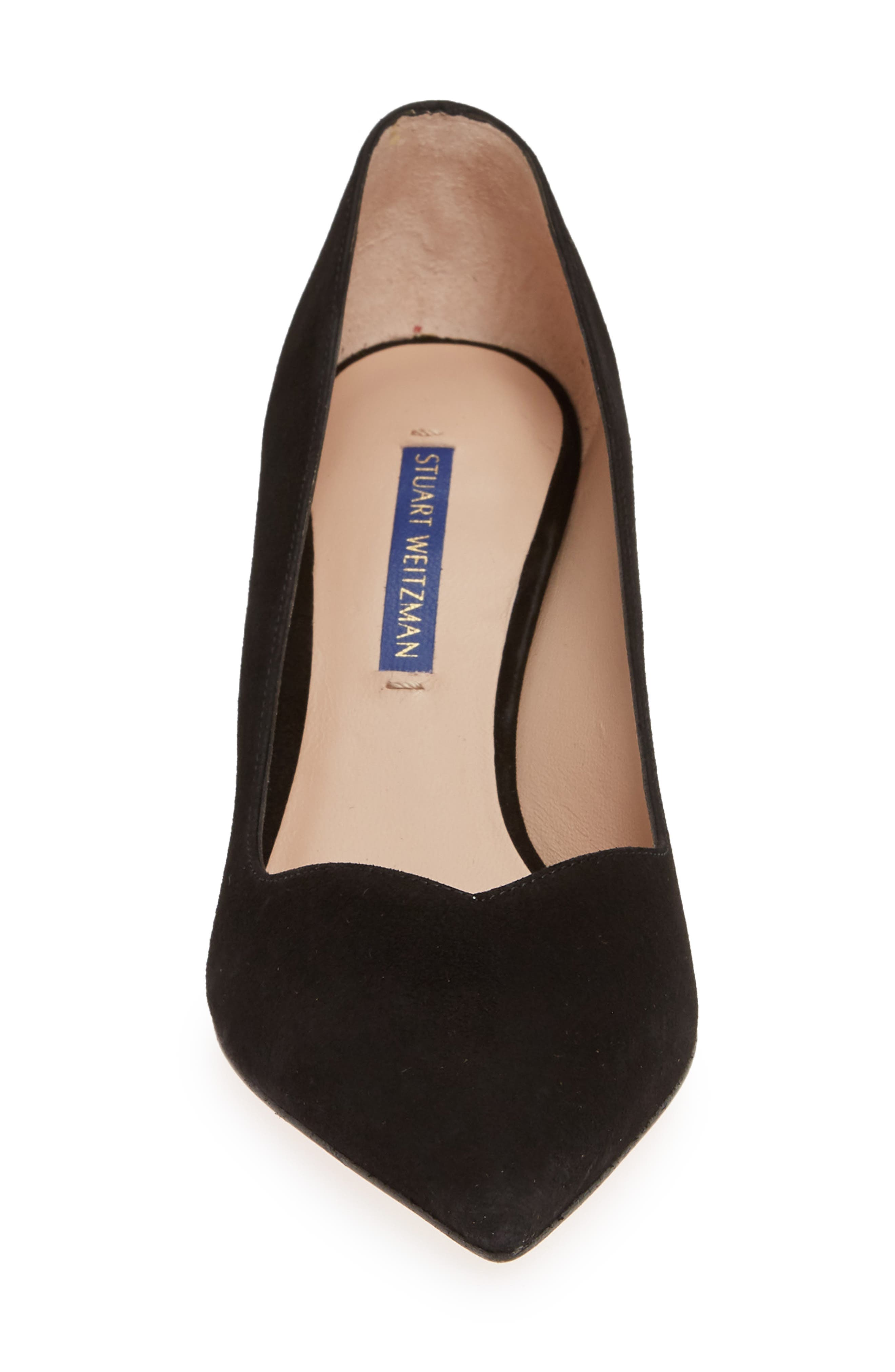 ,                             Anny Pointy Toe Pump,                             Alternate thumbnail 4, color,                             BLACK SUEDE