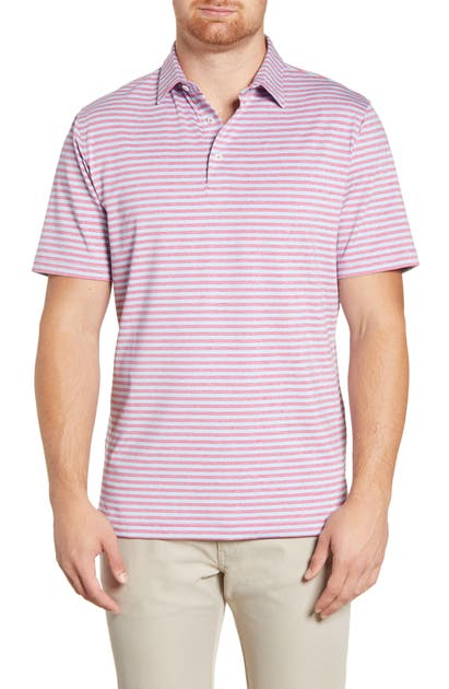 Johnnie-O Tops SMITH CLASSIC FIT STRIPE PERFORMANCE POLO