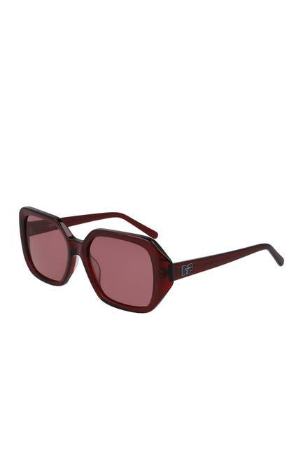 Image of Diane von Furstenberg 54mm Coletta Square Sunglasses