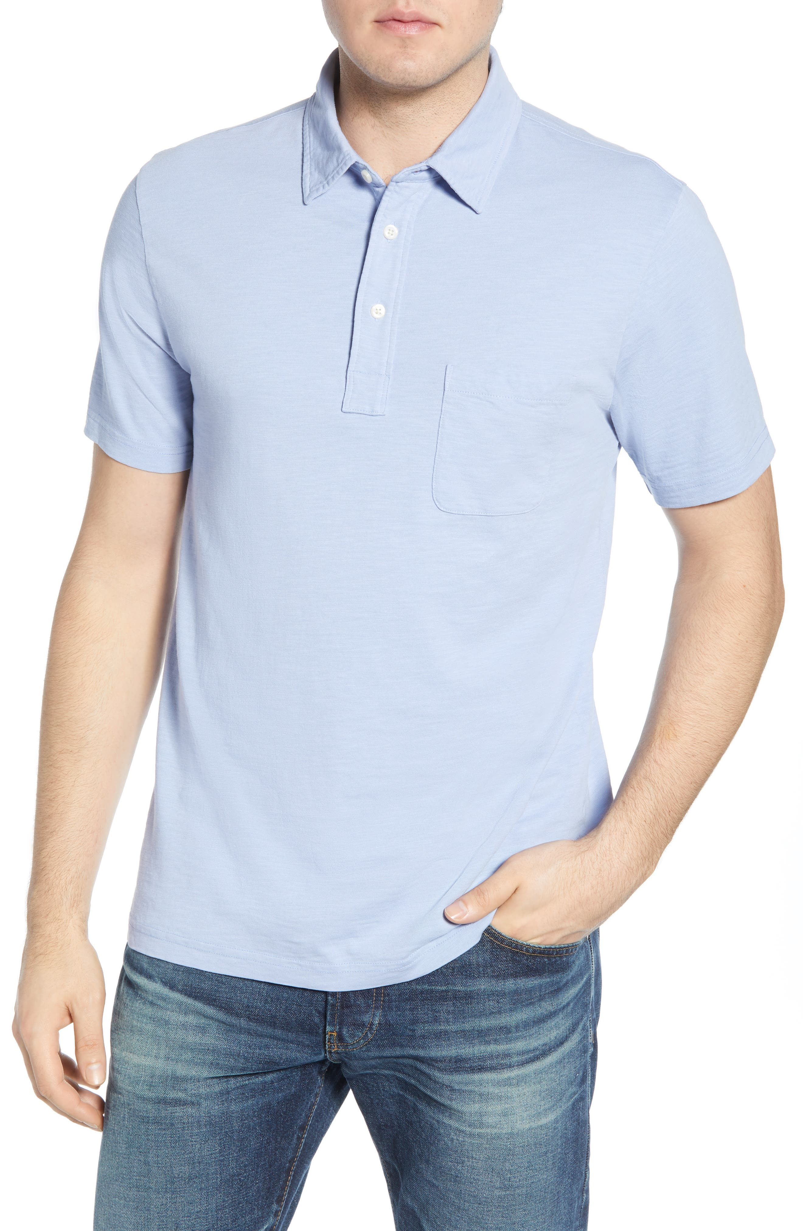 Faherty Sunwashed Regular Fit Polo, Purple