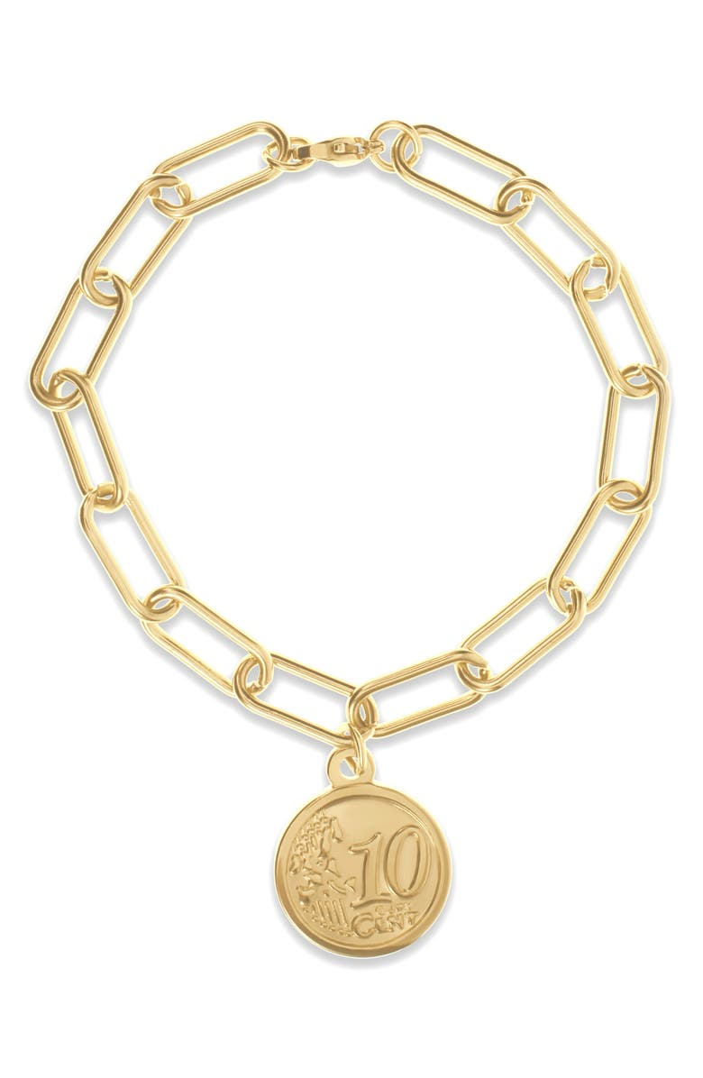 ELLIE VAIL Kassie Coin Pendant Bracelet, Main, color, 710