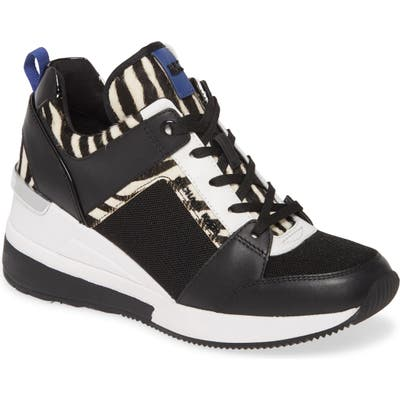 Michael Michael Kors Georgie Wedge Sneaker- Black