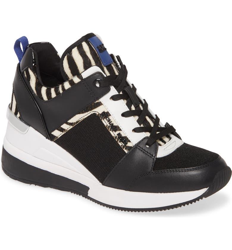 MICHAEL MICHAEL KORS Georgie Wedge Sneaker, Main, color, 003