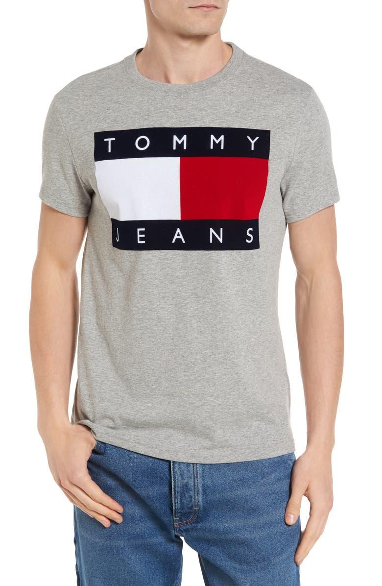 TOMMY HILFIGER '90s Flat T-Shirt, Main, color, 020