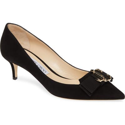 Jimmy Choo Ari Buckle Pointy Toe Pump, Black