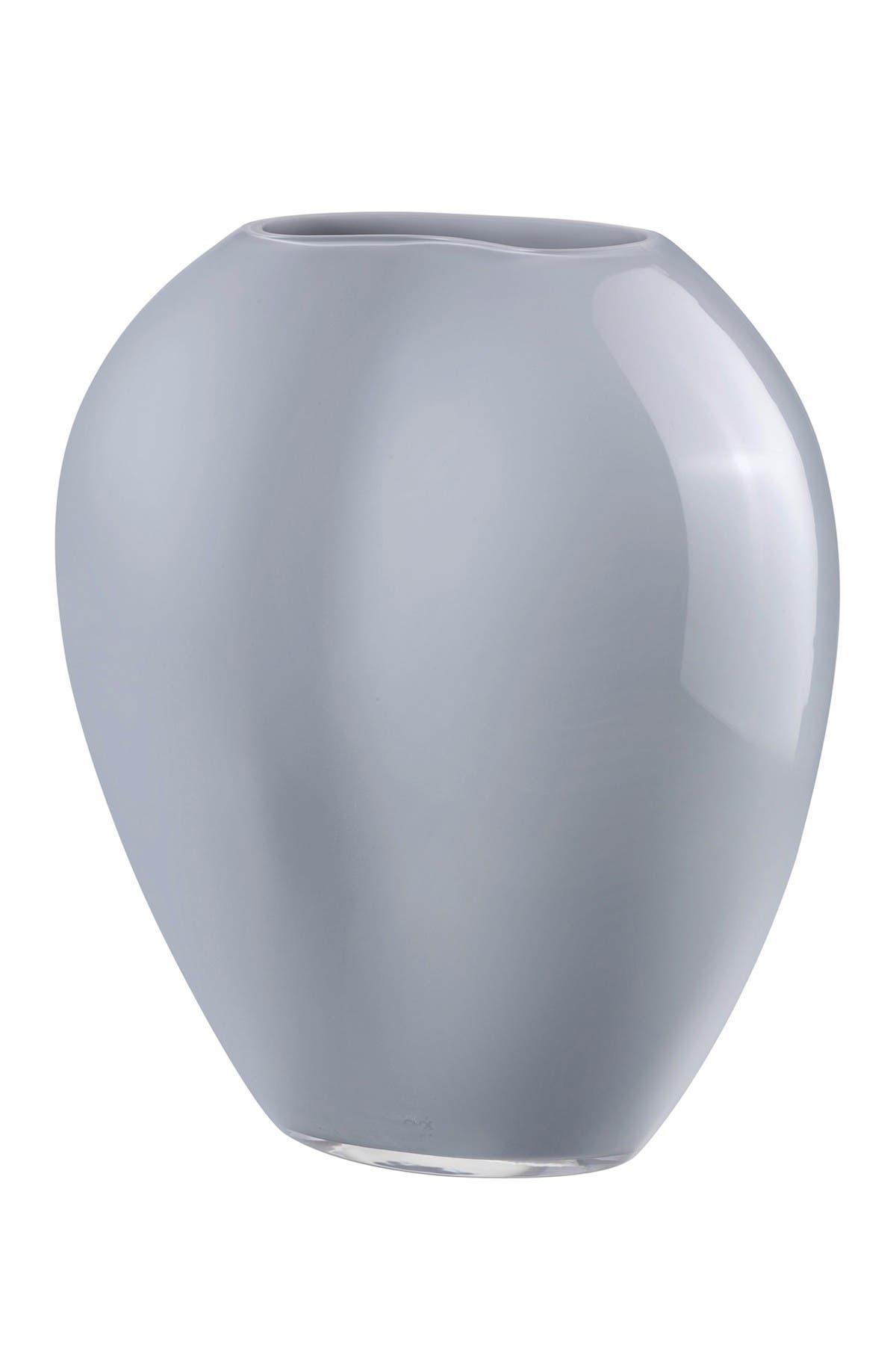 Image of Nude Glass Satin Vase - Large - Opal Grey
