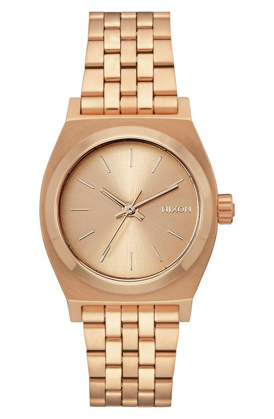 Nixon Time Teller Bracelet Watch, 31mm In Rose Gold