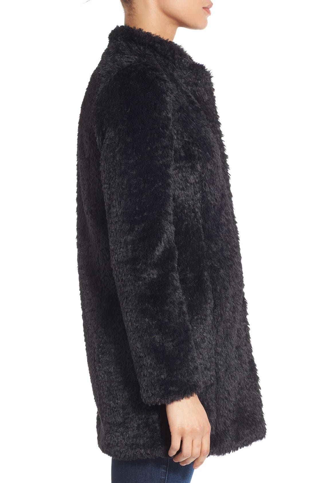 ,                             Faux Fur Jacket,                             Alternate thumbnail 27, color,                             001