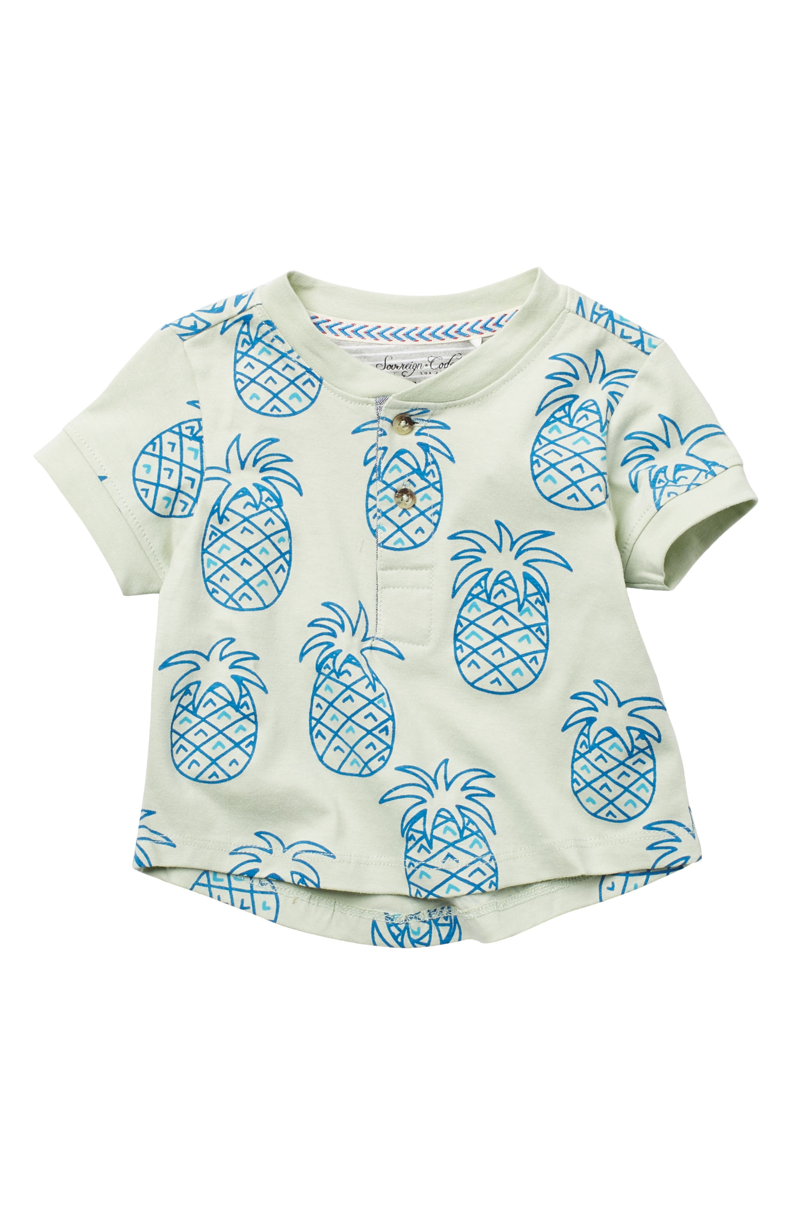 Image of Sovereign Code Champ Pineapple Print Top
