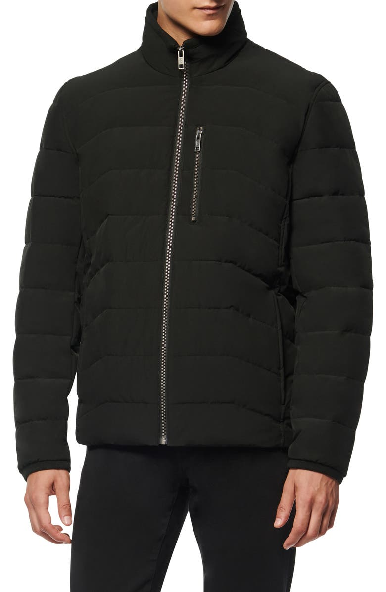 MARC NEW YORK Carlisle Water Resistant Quilted Puffer Jacket, Main, color, BLACK