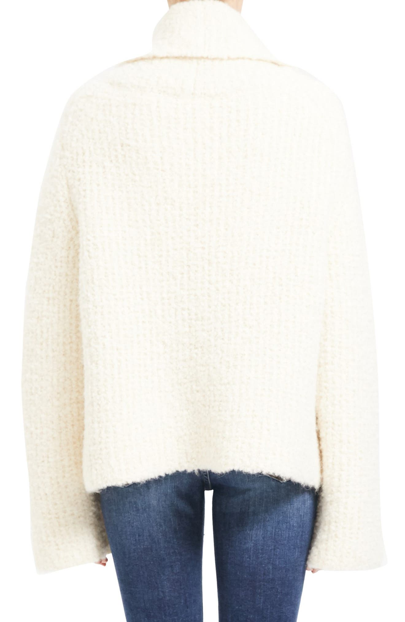 Theory Sweaters Cowl Neck Bell Sleeve Alpaca & Wool Blend Sweater