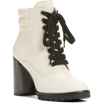 Paige Lace-Up Nicole Bootie- White