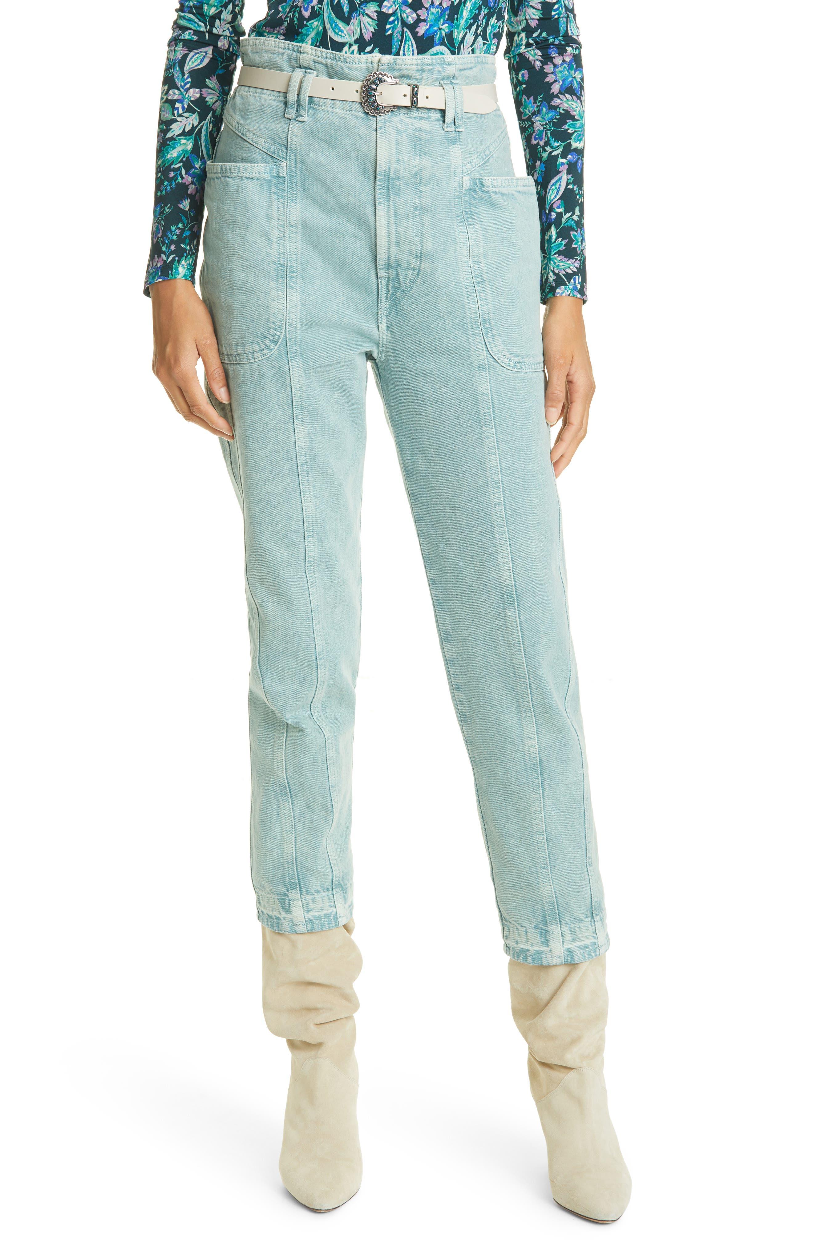 Women's Isabel Marant Etoile Tucson High Waist Crop Nonstretch Jeans