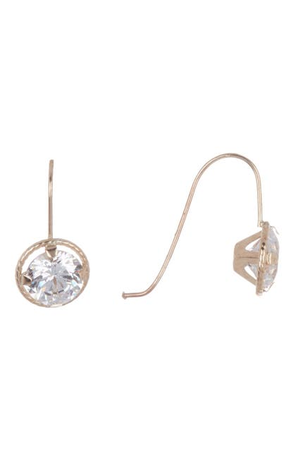 Image of Candela 10K Yellow Gold Swarovski CZ Drop Dangle Earrings