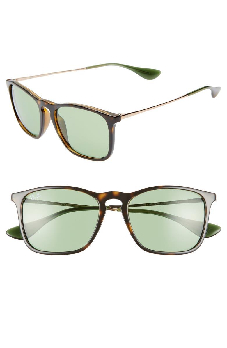 RAY-BAN 54mm Sunglasses, Main, color, TORTOISE GREEN