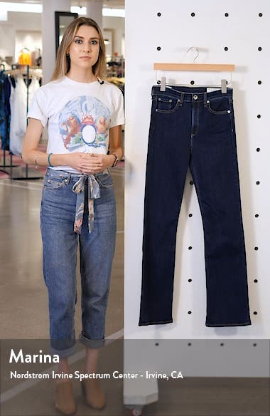 Nina High Waist Bootcut Jeans, sales video thumbnail