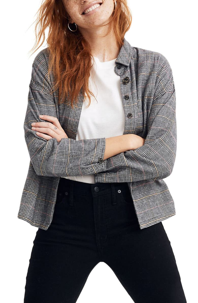 MADEWELL Bromley Flannel Shirt, Main, color, ACCENT HOUND PALE MOONSTONE