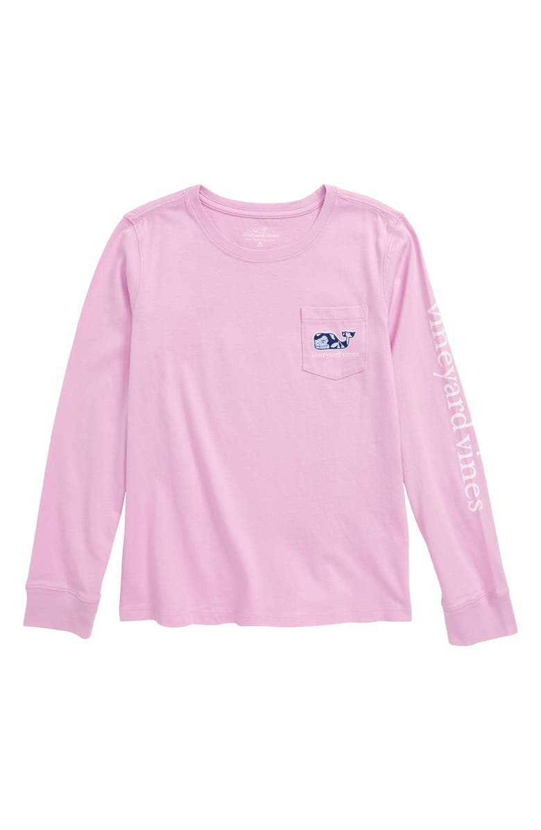VINEYARD VINES Whale Fill Pocket Tee, Main, color, LILAC ICE
