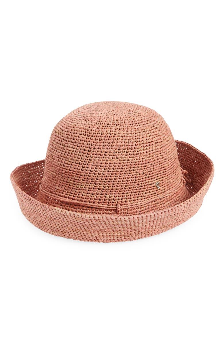 HELEN KAMINSKI 'Provence 10' Packable Raffia Hat, Main, color, PEONY