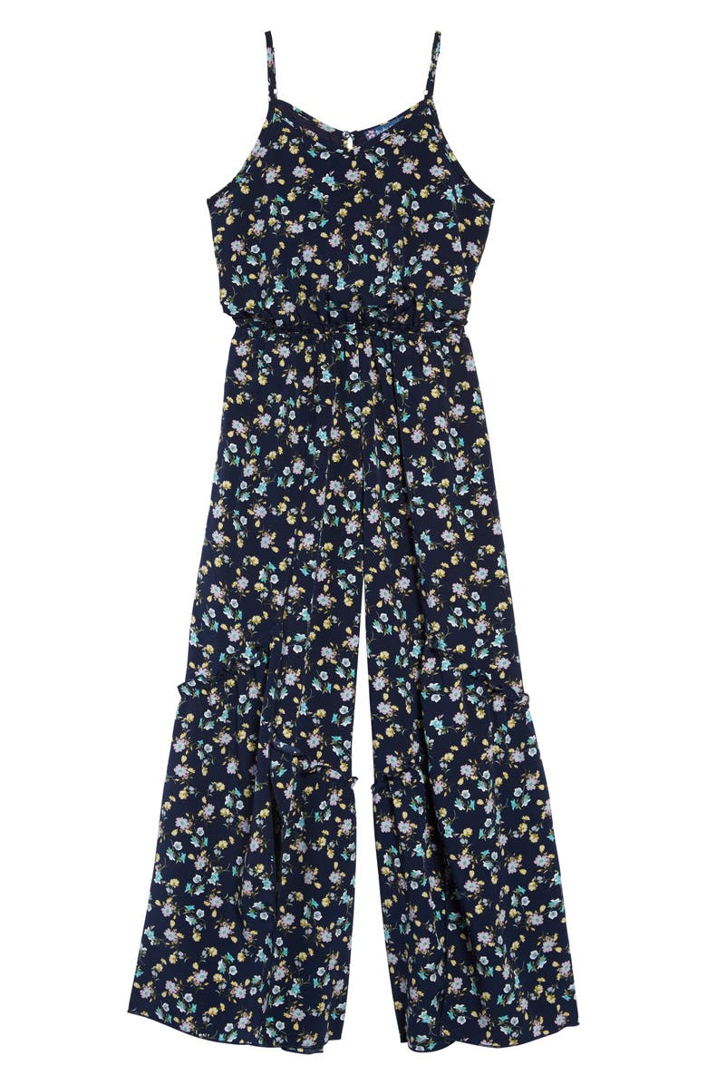 TRULY ME Sleeveless Jumpsuit, Main, color, BLUE