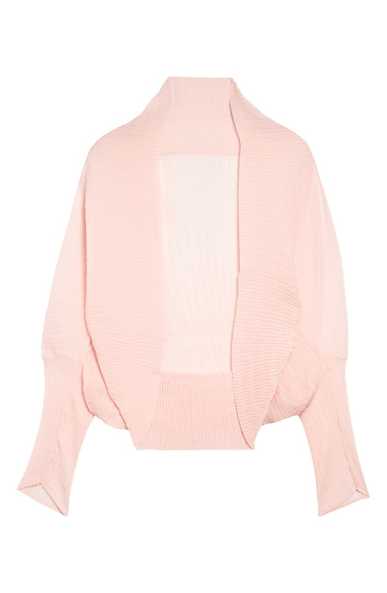 MAX MARA Vesuvi Sheer Open Cardigan, Main, color, PINK