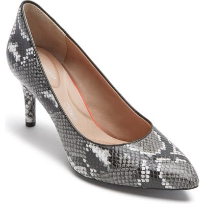 Rockport Total Motion Pointy Toe Pump- Grey