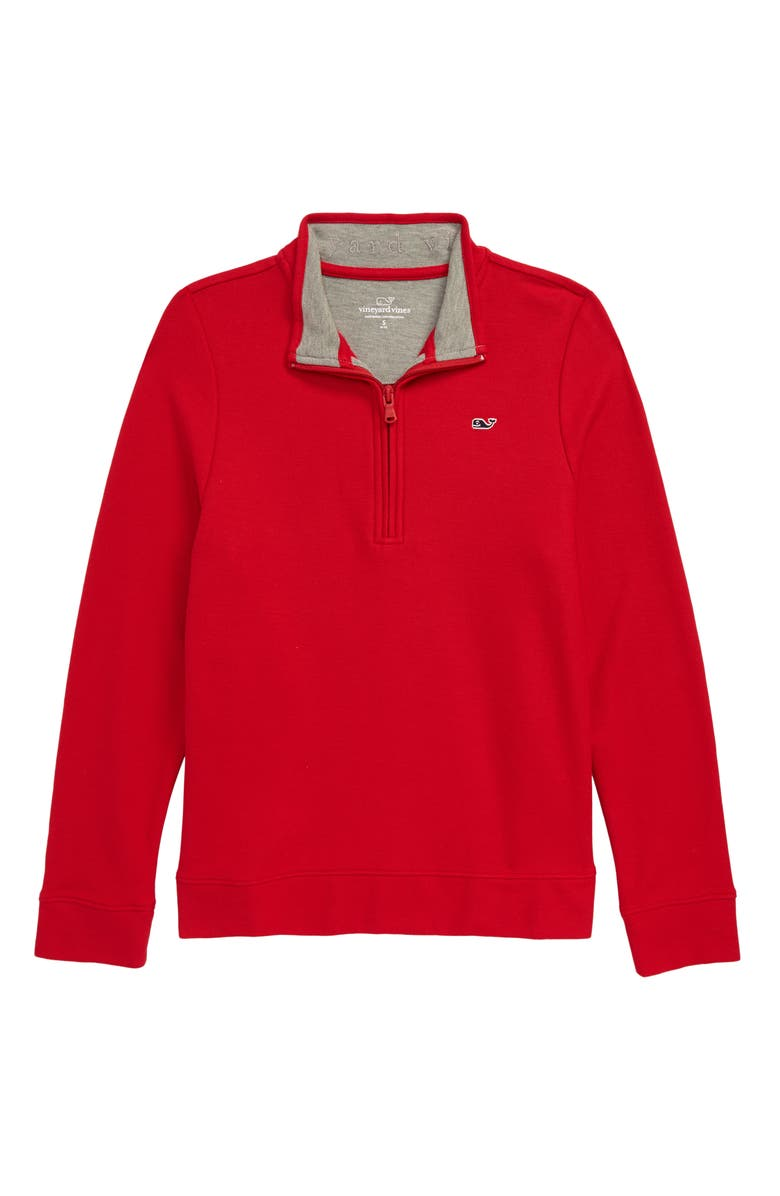 VINEYARD VINES Quarter Zip Pullover, Main, color, 601