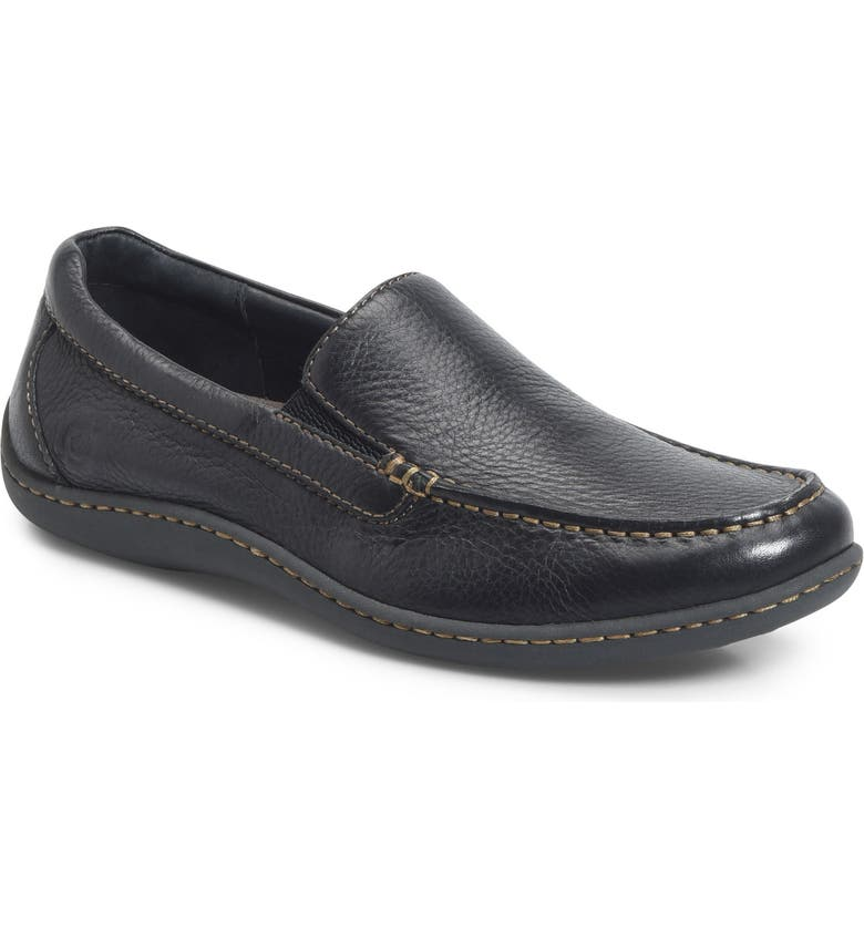 BØRN Brompton Loafer, Main, color, BLACK LEATHER