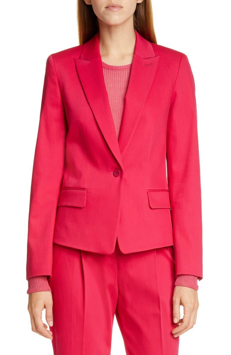 HUGO Aklesi Stretch Cotton Suit Jacket, Main, color, 650