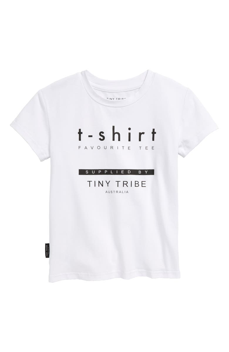 TINY TRIBE Graphic Tee, Main, color, WHITE