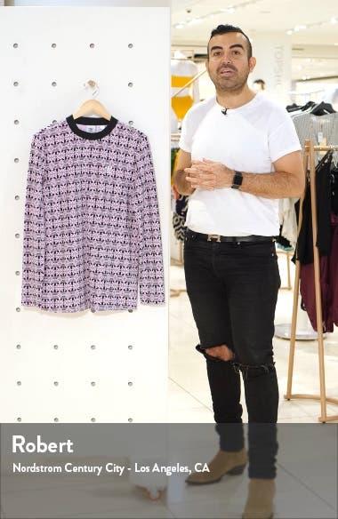Print Long Sleeve T-Shirt Dress, sales video thumbnail