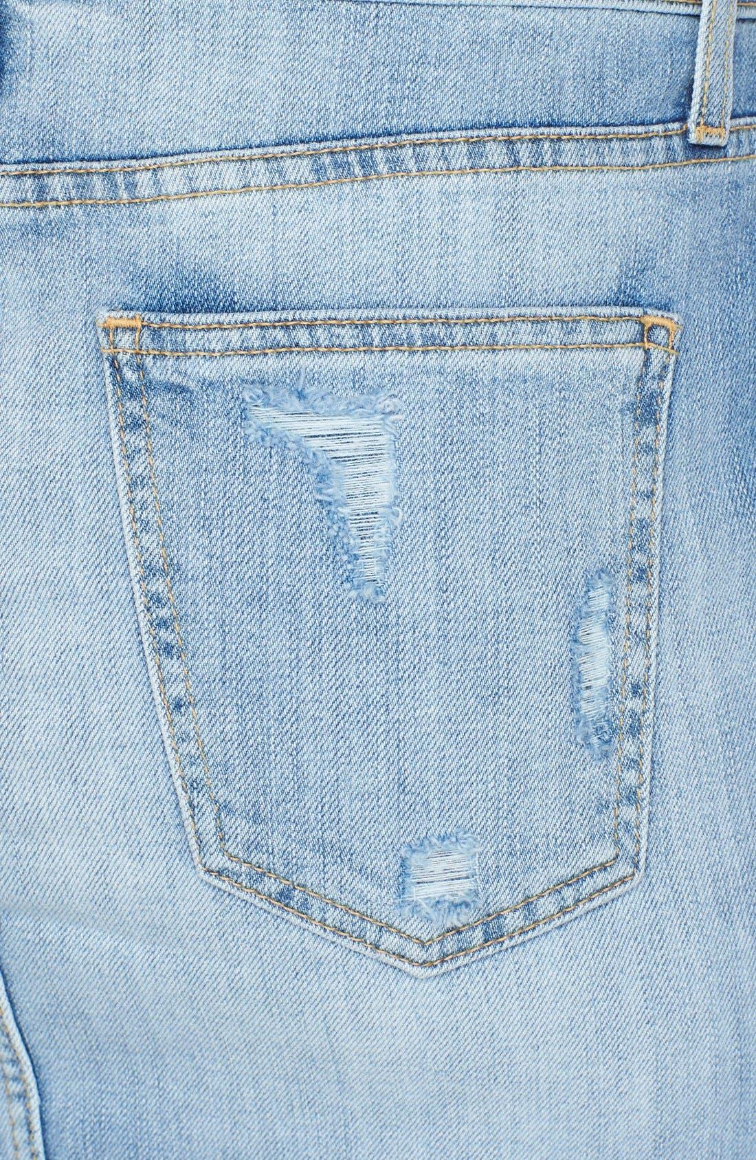 ,                             'The Stiletto' Destroyed Jean Skirt,                             Alternate thumbnail 2, color,                             481