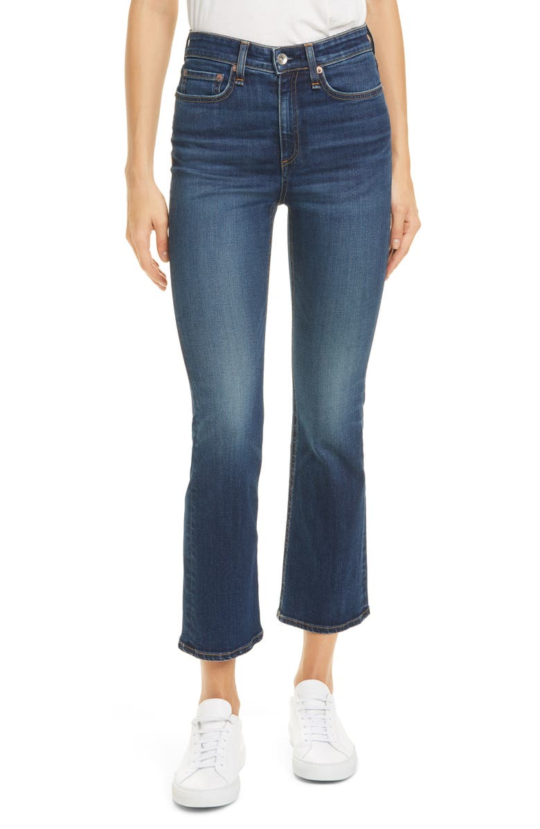 RAG & BONE Nina High Waist Ankle Flare Jeans, Main, color, CARLA