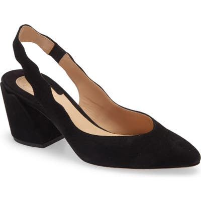 Chloe Laurena Scallop Slingback Pump - Black