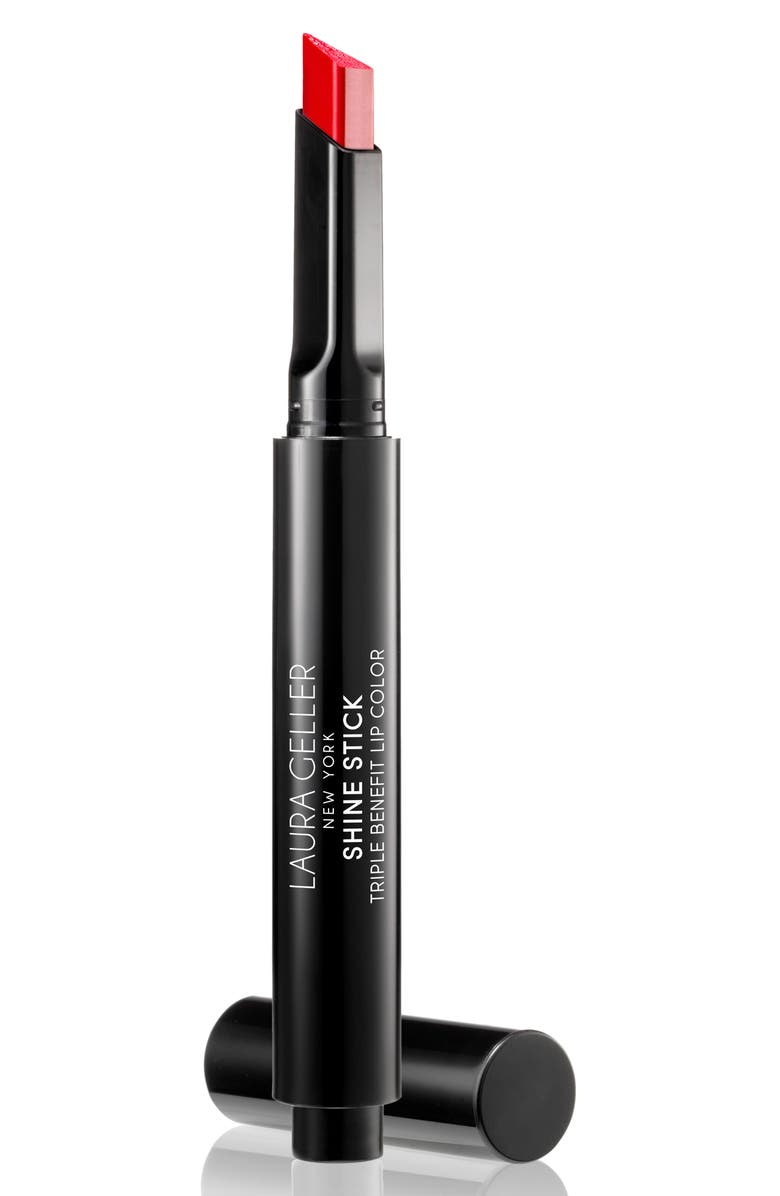 LAURA GELLER BEAUTY Shine Stick Triple Benefit Lip Color, Main, color, RADIANT RED