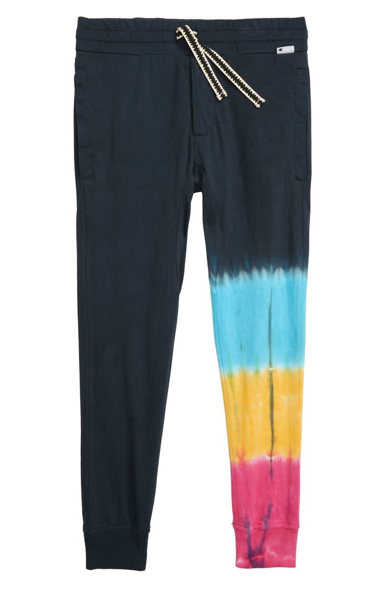 MUNSTERKIDS Rasta Tie Dye Track Pants, Main, color, 400