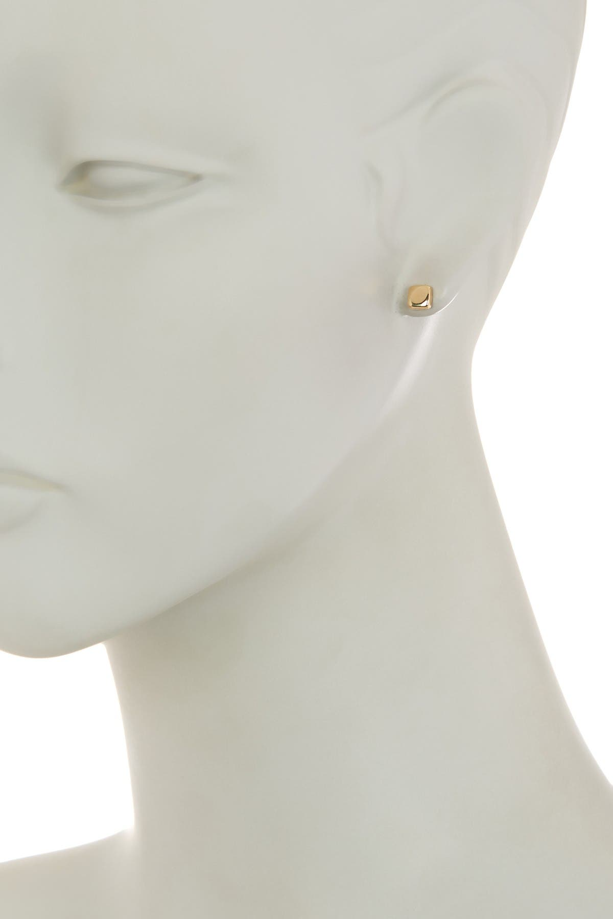 Image of Candela 14K Yellow Gold Cushion Stud Earrings