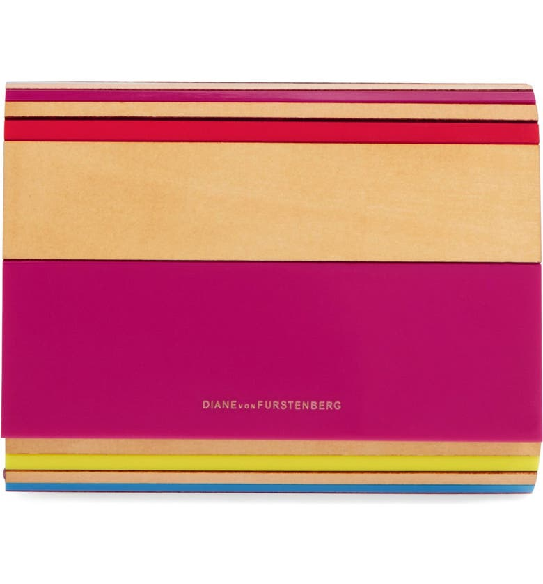 DIANE VON FURSTENBERG 'Twilight' Resin Clutch, Main, color, 600