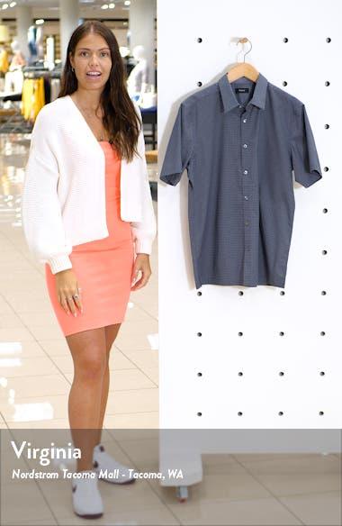 Irving Slim Fit Dot Print Short Sleeve Button-Up Shirt, sales video thumbnail