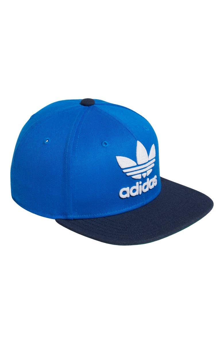 ADIDAS Originals Trefoil Snapback Baseball Cap, Main, color, 420