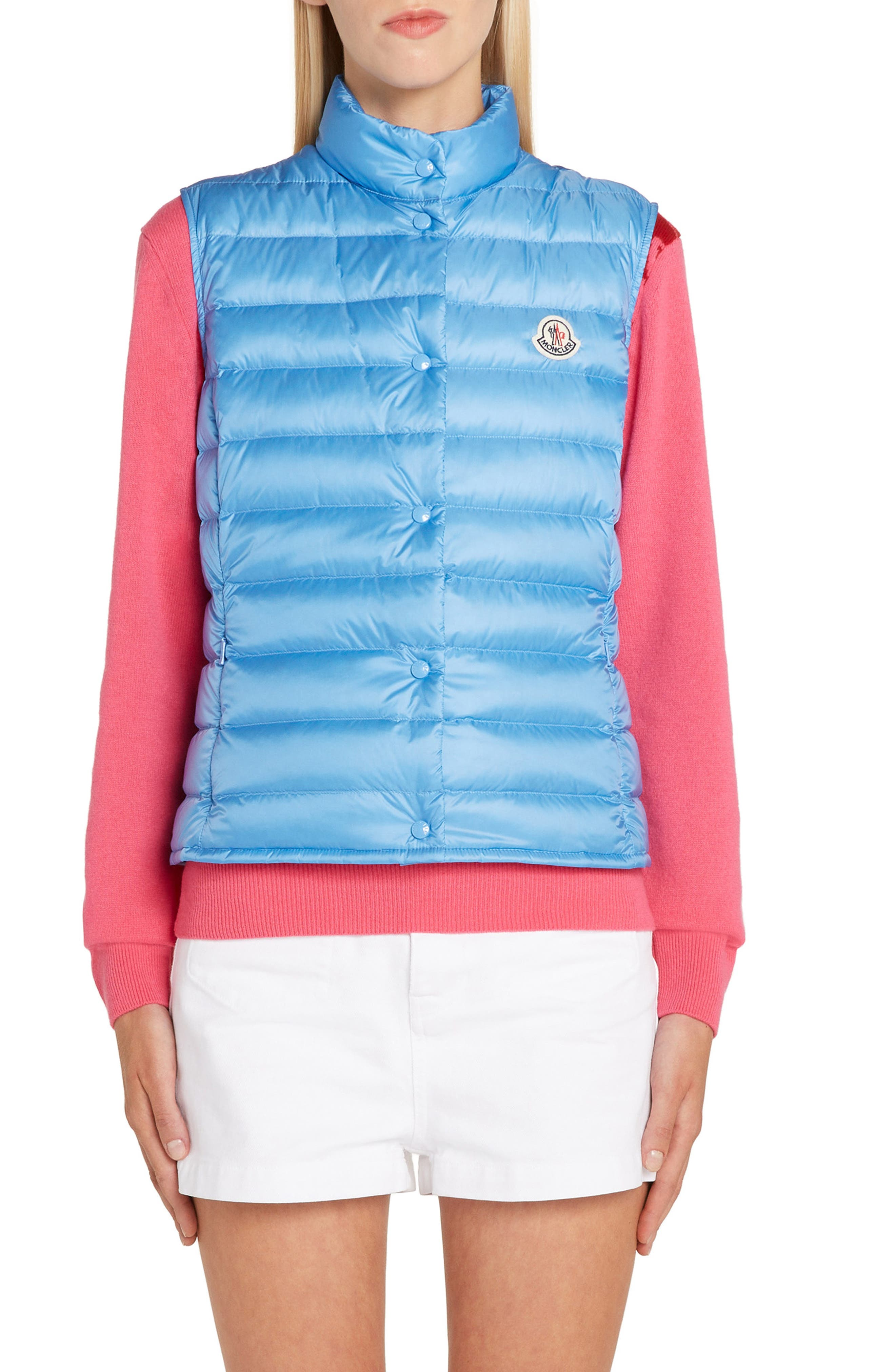 Moncler Liane Quilted Down Vest, Blue