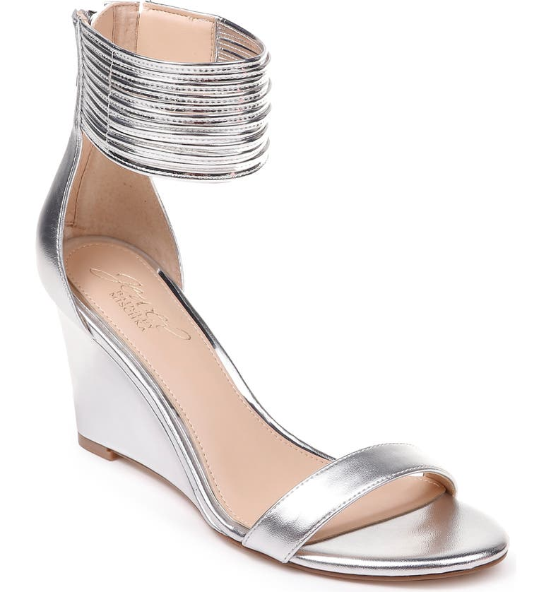 JEWEL BADGLEY MISCHKA Starry Ankle Strap Wedge, Main, color, 046