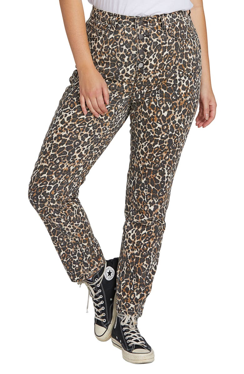 VOLCOM Super Stoned Animal Print Ankle Skinny Jeans, Main, color, ANIMAL PRINT