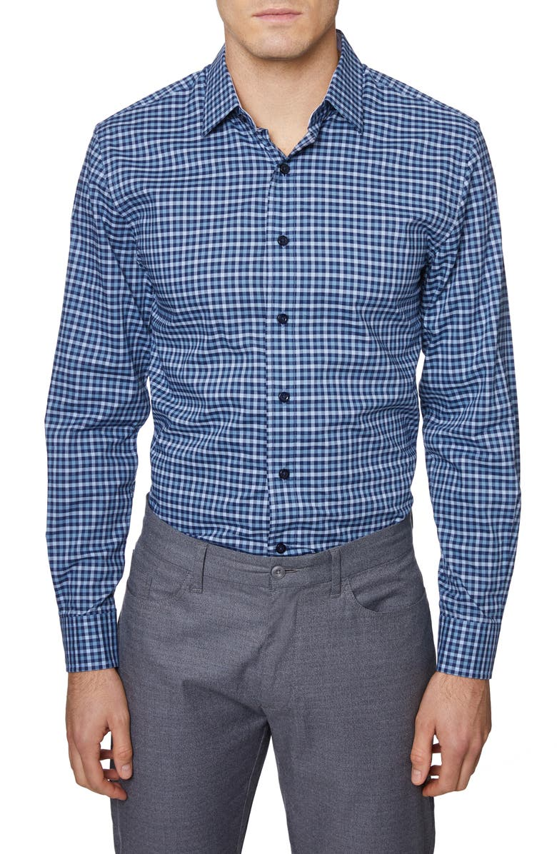 HICKEY FREEMAN Check Regular Fit Shirt, Main, color, BLUE
