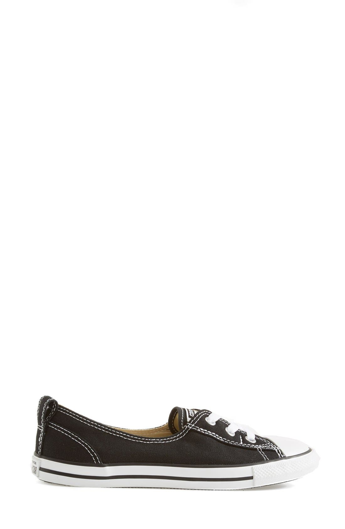 ,                             Chuck Taylor<sup>®</sup> All Star<sup>®</sup> Ballet Canvas Sneaker,                             Alternate thumbnail 3, color,                             001
